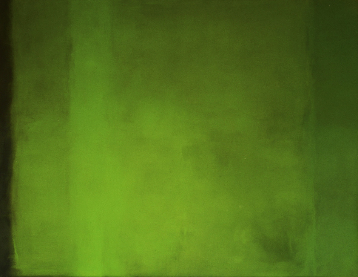 without title -big green, oil 129×164 by Rachela Abbate